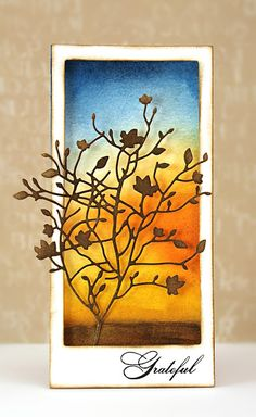 As a tapestry of color covers the landscape, we share designs inspired by autumn hues and gratitude.        My approach for today's card wa...