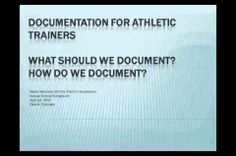 Documentation For Athletic Trainers
