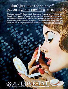 Revlon 'Love Pat' Powder Compact Ad, 1962
