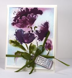 Today's card features the new brushstroke stamp 'Pop Pop Poppy'. All this week the new brush stroke stamps are the stars on the PB blog.Yesterday Jill Foster shareda video showing how to make he...