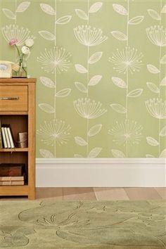 Buy Retro Flower Green Wallpaper from the Next UK online shop - bedroom?