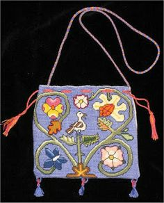 Referenced on blog by Laura , from Worshipful Company of Broiders page, noting that Hunyd's done a sweet bag.
