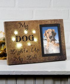 Love this Canvas Lighted Dog Photo Frame on #zulily! #zulilyfinds