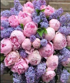 Peonies Bouquet, Pink Peonies, Bouquets, My Flower, Flower Power, Flower Truck, Shades Of Purple, Dream Garden, Seasonal Decor