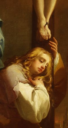 Magdalena (crucifixió, detall) Gaetano Gandolfi