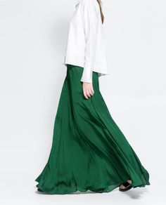 ZARA - WOMAN - LONG FLOWY SKIRT