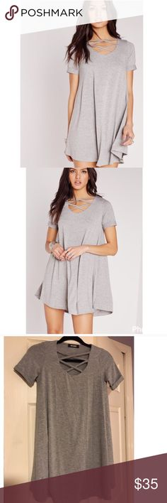 Misguided Summer Dress Laced Gray Small Misguided Summer Dress Laced Gray Small Missguided Dresses