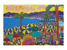 Cannes, the players, artprint from an original oilpainting by Igor Marceau