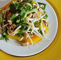 Easy Raw Pad Thai Salad Recipe | This Pad Thai-inspired raw food salad is hearty enough to serve as an entree. the flavor really comes from the freshly chopped cilantro, so whatever you do, don't substitute the raw fresh cilantro for dried. It just won't be the same if you do! Try this raw food recipe for a delicious and nutritious raw foods Pad Thai salad. Learn more about healthy #raw #food #diets here http://rawfooddietsforweightloss.blogspot.com