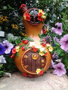 Gourd Fairy House by Fantasyfairyhomes on Etsy, $150.00