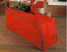 This storage bag is the ideal way to store your artificial Christmas tree. It holds up to a 6-ft. tree when broken down into sections. Protects your tree from dust, dampness and insects. Features a zipper closure and handles for easy carrying. Can also be used to store other holiday decor items. This would be the most thoughtful Christmas present anyone could give!