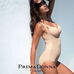 ffb0a6bdd348c Prima Donna Twist A La Folie Shapewear Bodysuit in Caffe Latte Sheer Bra