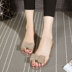 49570c04304593 Summer Flat with Fish Mouth Crystal Jelly Shoes PVC Beach Sandals Plastic  Slides