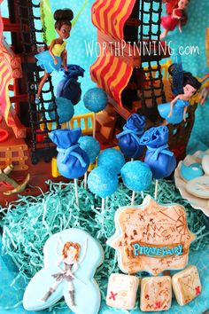 Worth Pinning: Pirate Fairy Blue Pixie Dust Cake Pops