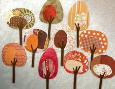 Paper Trees - Friendly Forest Crisp Autumn Day Collection. $12.50, via Etsy.
