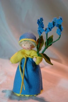 Forget me not  Flower Child  Waldorf by KatjasFlowerfairys on Etsy, €33.00