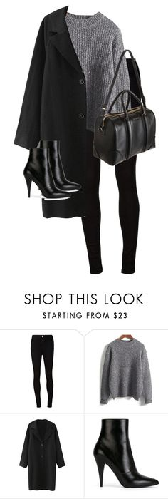 """""""Untitled #10372"""" by alexsrogers ❤ liked on Polyvore featuring mode, AG Adriano Goldschmied, Yves Saint Laurent et Givenchy"""