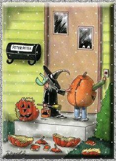 WALL - HA !!  Funny halloween