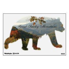 Smoky Mountain Black Bear Wall Decal