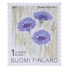 Postimerkki: Maakuntakukat - Ruiskaunokki | Suomen postimerkit Stamps, Flowers, Postage Stamps, Seals, Stamp
