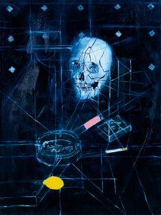 "DAMIEN HIRST, ""Skull with Ashtray, Lemon and Cigarette,"" 2006"