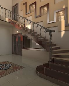 Turning Stairs Designed By Pakistans Leading Architectural Design Firm Interior