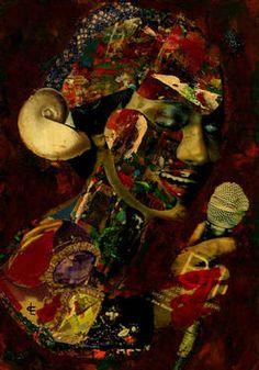 """Saatchi Art Artist CARMEN LUNA; Collage, """"95- Tesoros del COLLAGES. Soul."""" #art"""