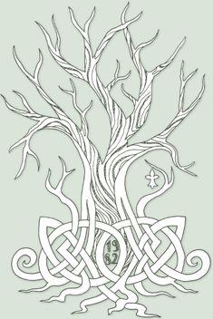 Breton heraldic ermine and Celtic knotwork Tree ID by mossy-tree.deviantart.com on @deviantART
