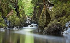 This is a photo of a Fairy Glen. The spot is tucked away in Snowdonia National Park, Betws-y-Coed, Wales. The place lives up to its name through the lens of reader Wendy Chapman.