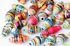 5 upcycling ideas for old magazines - colorful and versatile - Handarbeit & Nähen Recycled Magazines, Old Magazines, Recycled Crafts, Crafts For Boys, Diy For Kids, Diy And Crafts, Arts And Crafts, Diy Paper, Paper Crafts