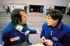 Emerson Fittipaldi with Ayrton Senna