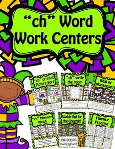 These centers are designed to help students become comfortable and fluent with the digraph sound /ch/ spelled ch and -tch. It includes phonemic and phonological awareness centers.  This packet includes picture sorts, write the room, picture/word memory match, blending game, real or nonsense sorting, fluency practice(word and sentences) and worksheets!