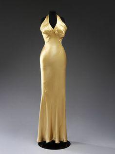 Evening dress (image 1) | Charles James | American | 1934 | satin | Victoria & Albert Royal Museum | Museum #: T.272-1974