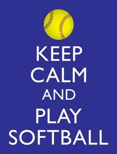 Keep Calm and Play Softball Print Your Own by WildGeeseDigital, $3.00