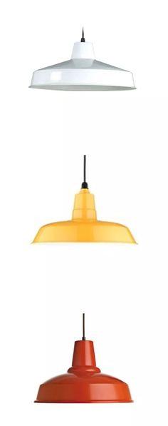 lampara colgante campana diseño granero vintage 30cm diam
