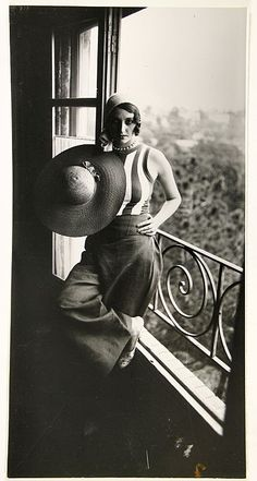 Jacques-Henri Lartigue. (1894 - 1986) - Renee Perle, 1930.