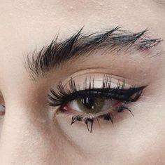 fierce brow + graphic black liner