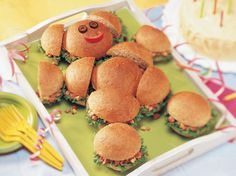 "Having a teddy bear party or picnic?  These kid-friendly sandwiches are a ""bear"" necessity!"