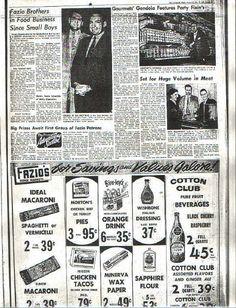 Fazio's ad 1954