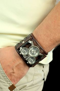 Mens wrist watches leather bracelet Tuareg-7 Handmade  Elegant leather wrist strap will help you emphasize your unique style. Soft leather, which is made