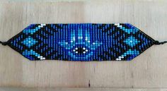 Bead Loom Patterns, Peyote Patterns, Beading Patterns, Native American Beadwork, Peyote Beading, Seed Beads, Diy And Crafts, Mandala, Projects To Try