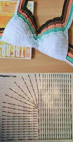 corpiño crochet ile ilgili görsel sonucu