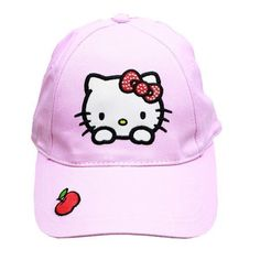 Kids Girls Hello Kitty Baseball Cap Adjustable Hat Snapback Cartoon Anime Figure