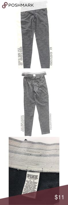 395acee299 Q Pink By Victoria's Secret Logo Side Joggers Pant Pink By Victoria's  Secret Women's Gray Logo
