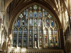 cathedral glass windows | Stained Glass Windows of Exeter Cathedral No. 2 by Kitsune-Akki on ...