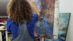 Prophetic Art, Encaustic Art, Process Art, Make Art, Contemporary Art, Dreadlocks, Hair Styles, Artist, Easel