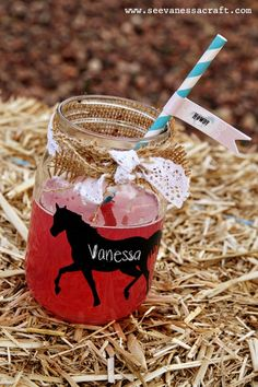 horse themed birthday party | Horse glasses for a cowboy themed party | Ally Birthday party Ideas