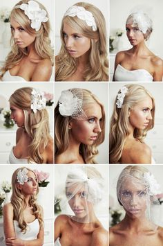 I don't necessarily want to wear a veil in my wedding but the other hair pieces are so cute Wedding Looks, Dream Wedding, Pretty Hairstyles, Wedding Hairstyles, Wedding Veils, Wedding Dresses, Hair Inspiration, Wedding Inspiration, Wedding Ideas
