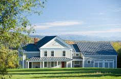 This home, completed in 2007, nestles into its setting against the Green Mountains. A Greek revival farmhouse style, this home uses metal roofing instead of traditional wood roofing. This is commonly seen in Northern New England to help shed the … Continued