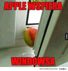 #humor #heheszki #humorobrazkowy #kwejk #apple #windows Stupid Funny Memes, Wtf Funny, Funny Cute, Polish Memes, Best Memes Ever, Funny Mems, Man Humor, Funny Comics, Really Funny